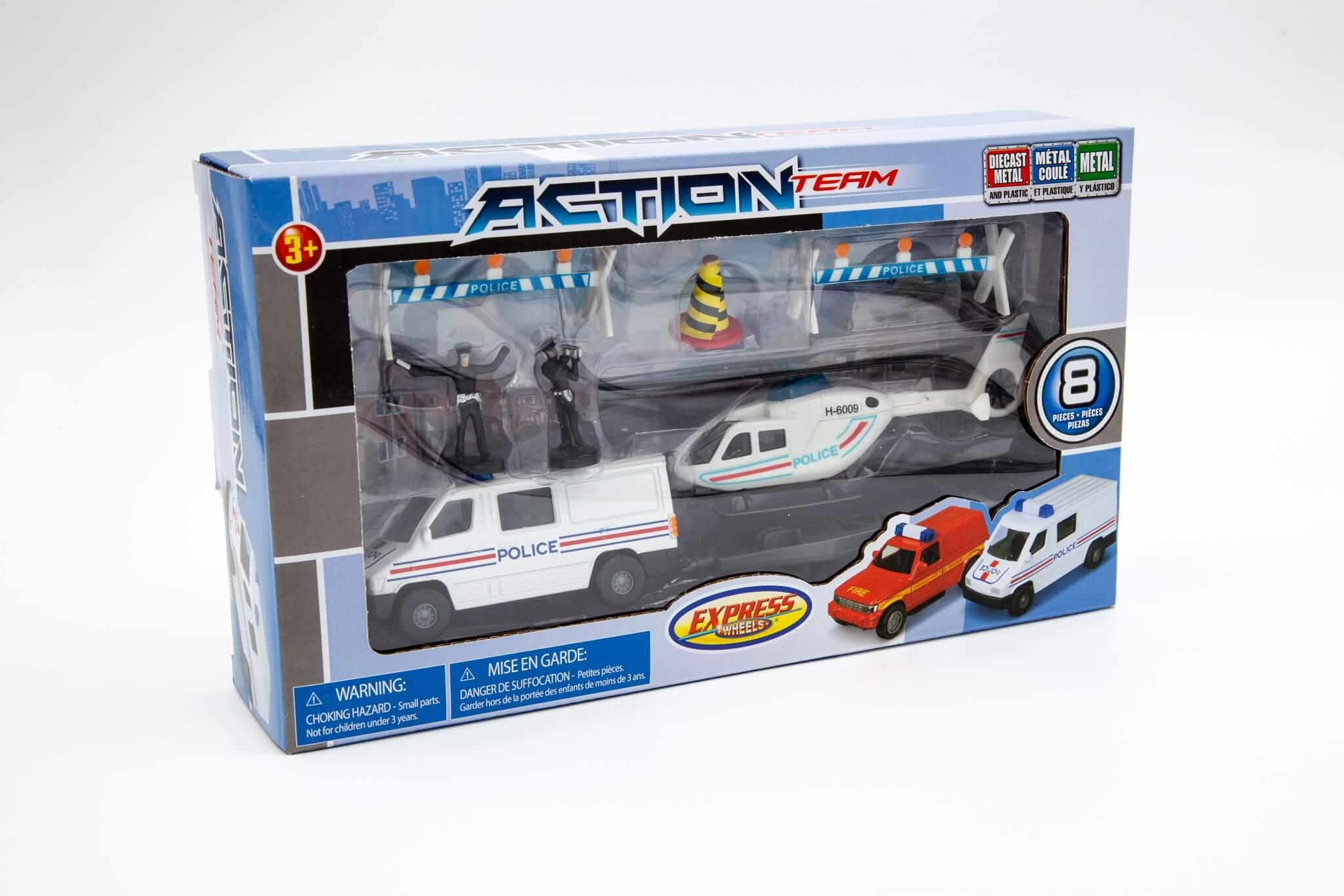 Suntoys vozila policijski kombi i helikopret sa figurama