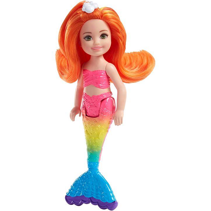 Barbie Dreamtopia Chelsea sirena sa narandžastom kosom