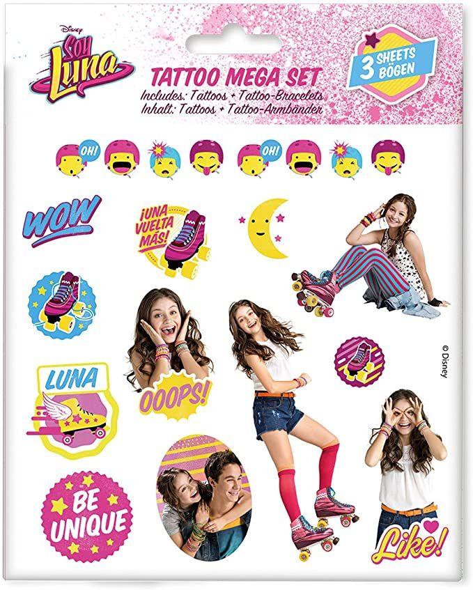 Disney tattoo set sa motivima Soy Luna 3 folije u pakovanju