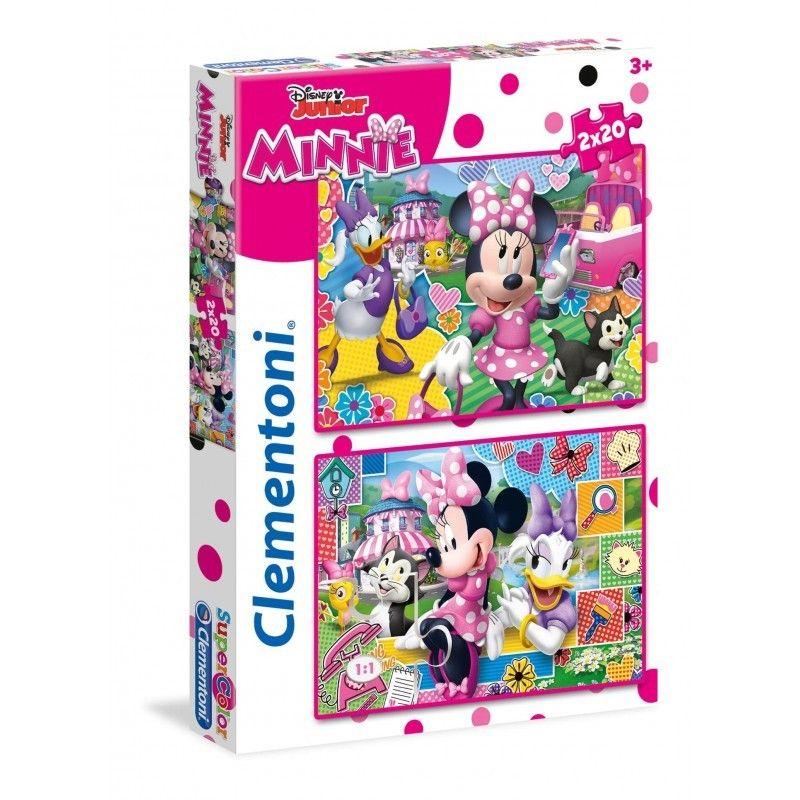 Clementoni Disney Junior puzzle Minnie Mouse 2x20