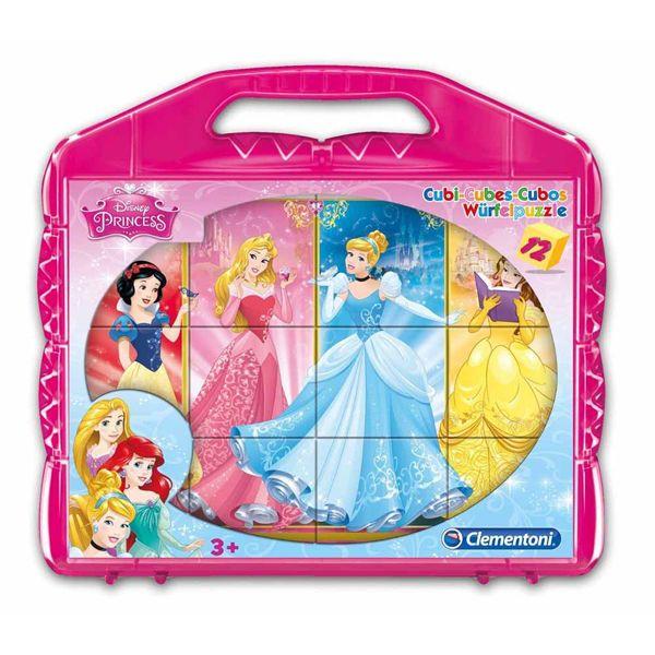 Clementoni Disney Princess kockasta slagalica u koferu