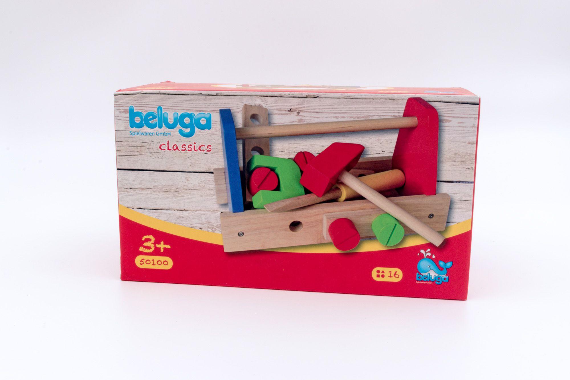 Beluga drvena kutija za alat za maštovite majstore