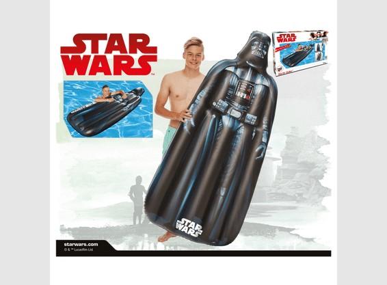 Dušek za plivanje Star Wars crni 173 x 67 x 18 cm