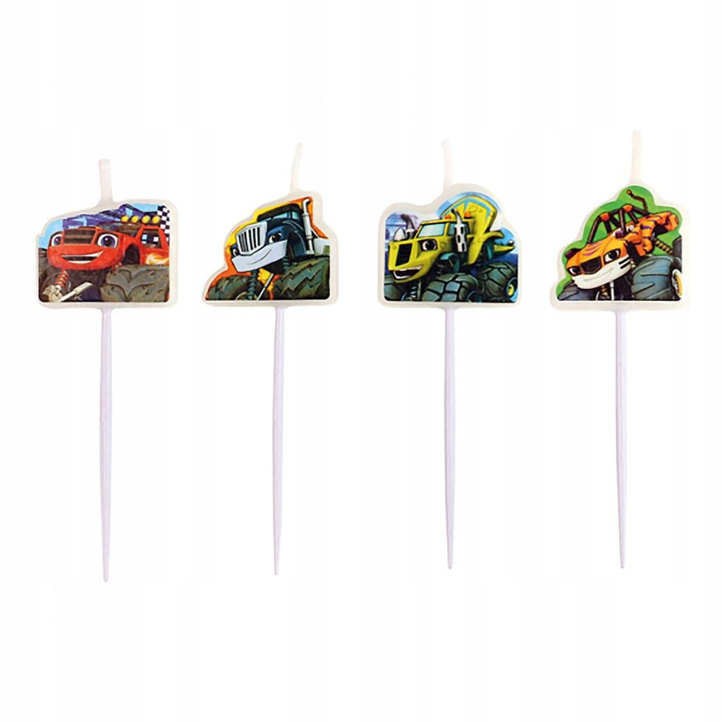 Blaze and the Monster Machines party mini figure sveće 4 kom.