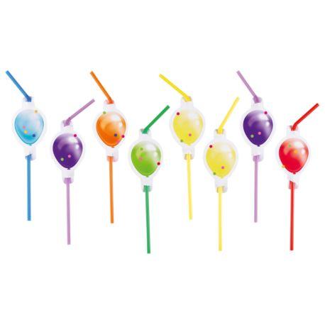 Party slamke Balloon sa motivom balončića 8 kom.