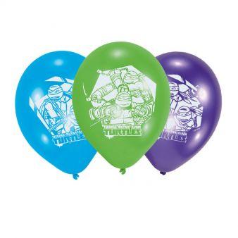 Ninja Turtles Nindža Kornjače Party šareni baloni 6 kom.