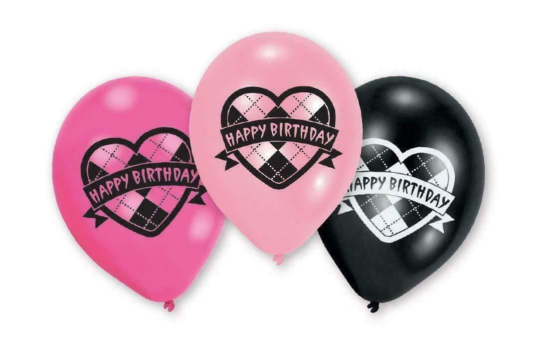 Monster High lateks Party baloni Happy Birthday 6 kom.