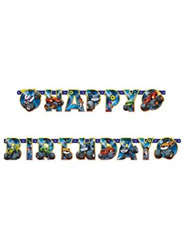 Blaze and Monster Machines party dekoracija Happy Birthday