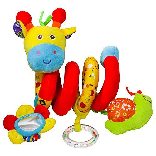 Wonder Toys plišana spirala žirafa