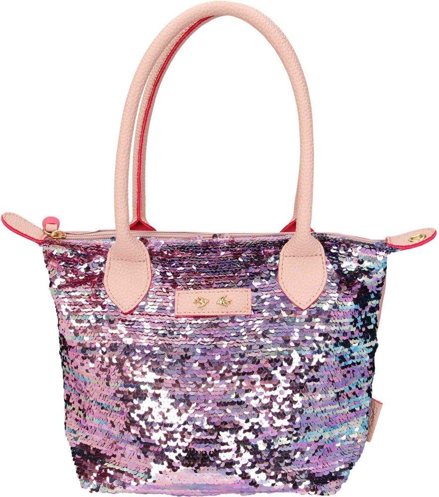 Depesche Trend Love torba sa šljokicama roze
