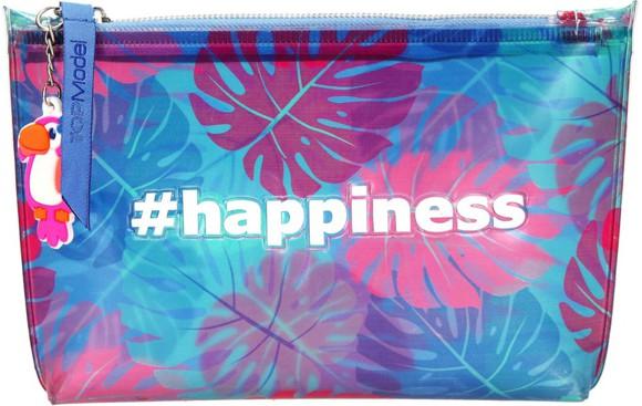 Depesche Top Model happiness print plavi neseser