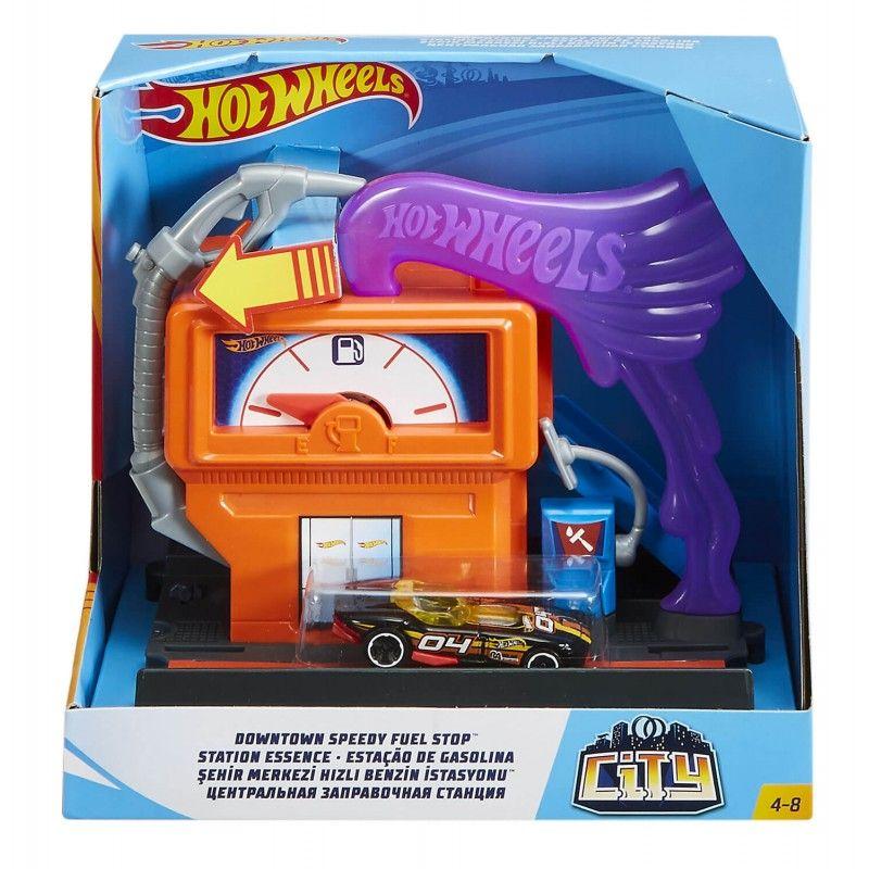 Hot Wheels set za igru sa jednim vozilom benzinska pumpa