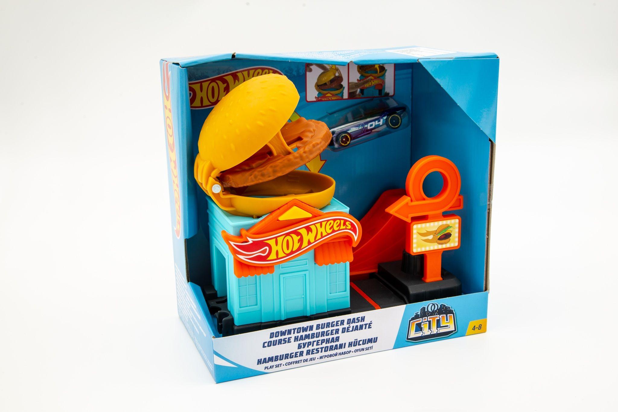 Hot Wheels set za igru sa jednim vozilom hamburger shop