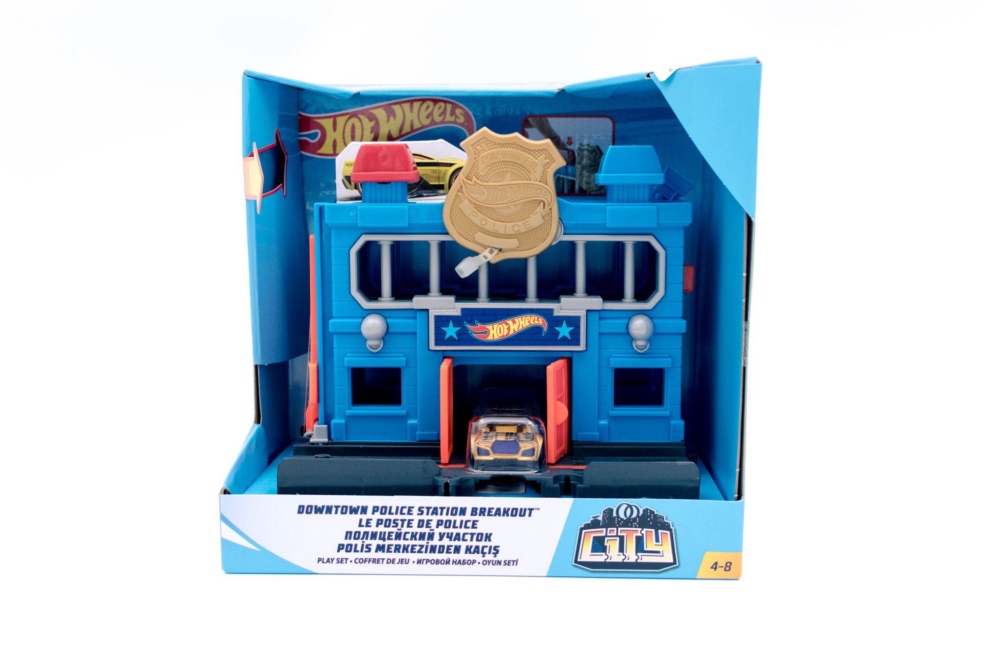 Hot Wheels set za igru sa jednim vozilom policijska stanica