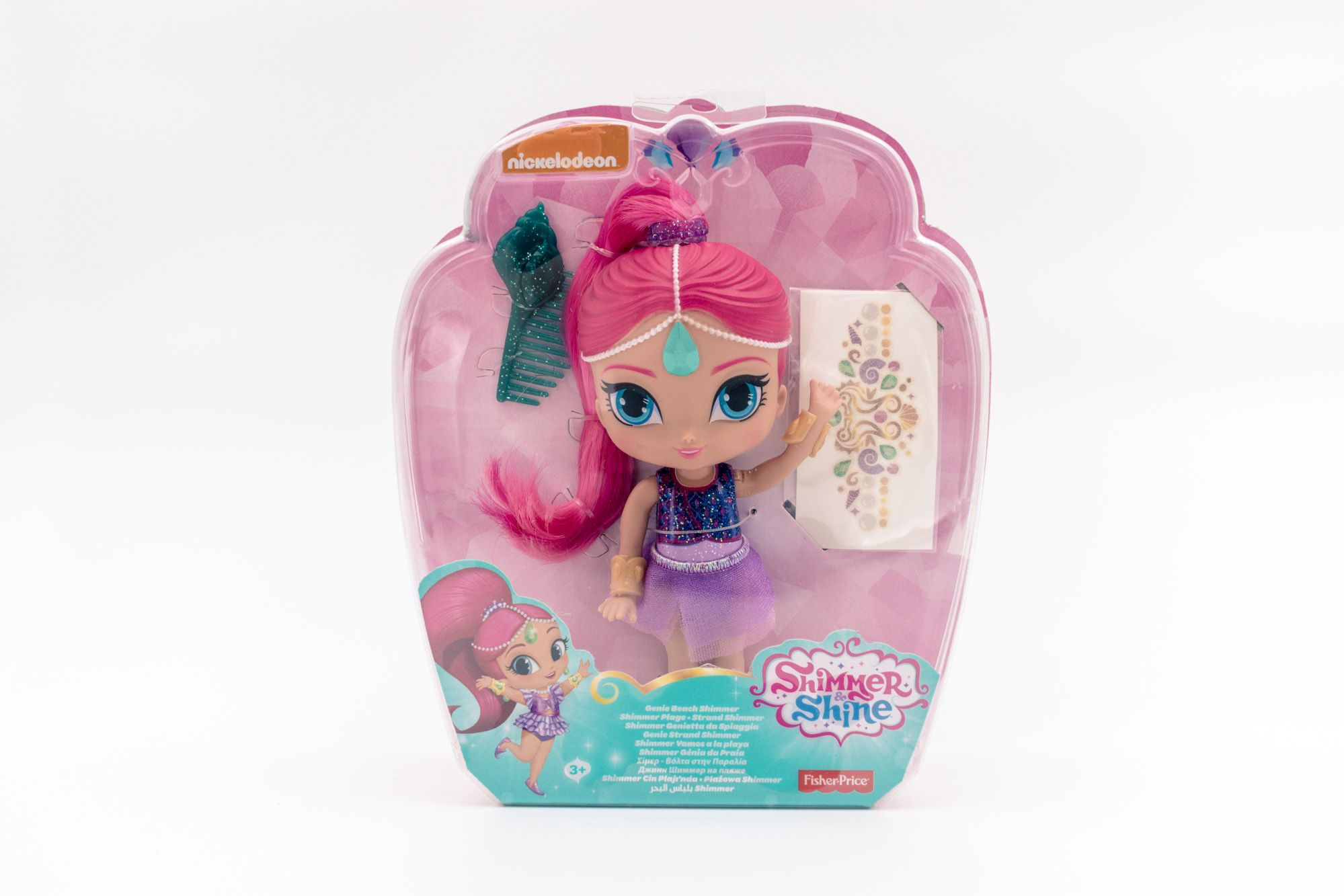Shimmer & Shine lutka 15 cm Genie beach Shimmer