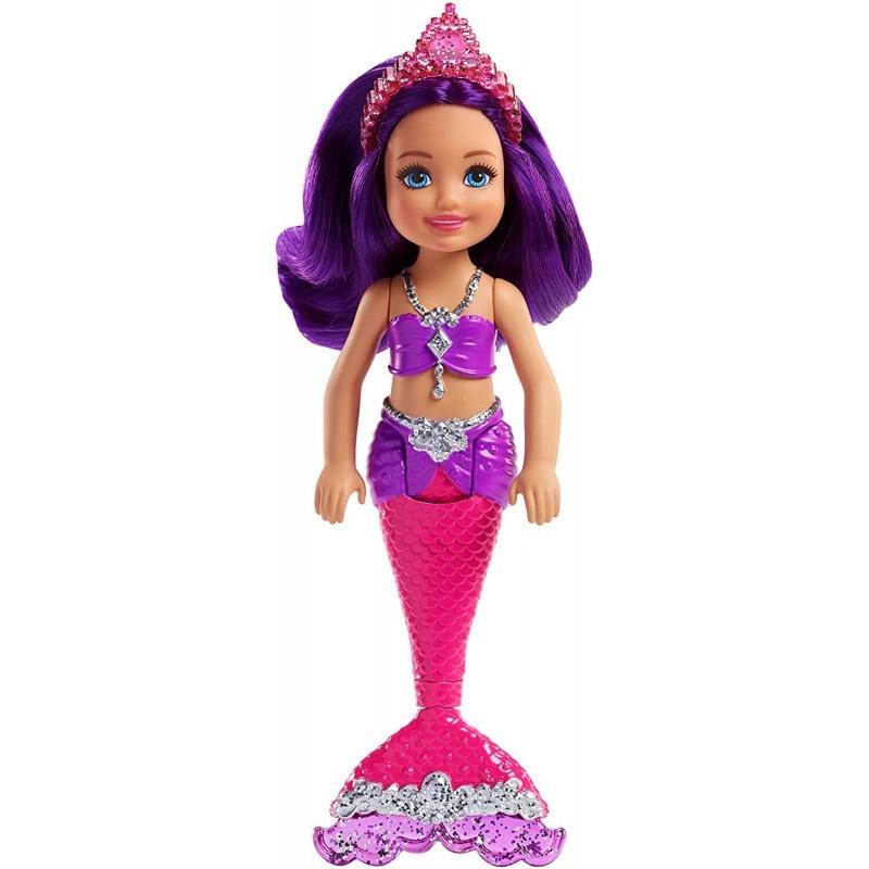 Barbie Dreamtopia Chelsea morska sirena sa ljubičastom kosom