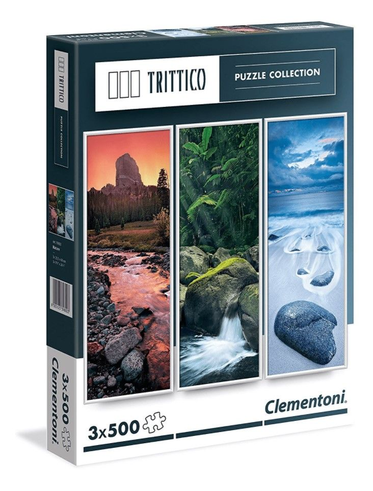 Clementoni Trittico puzzle collection 3x500 kom.