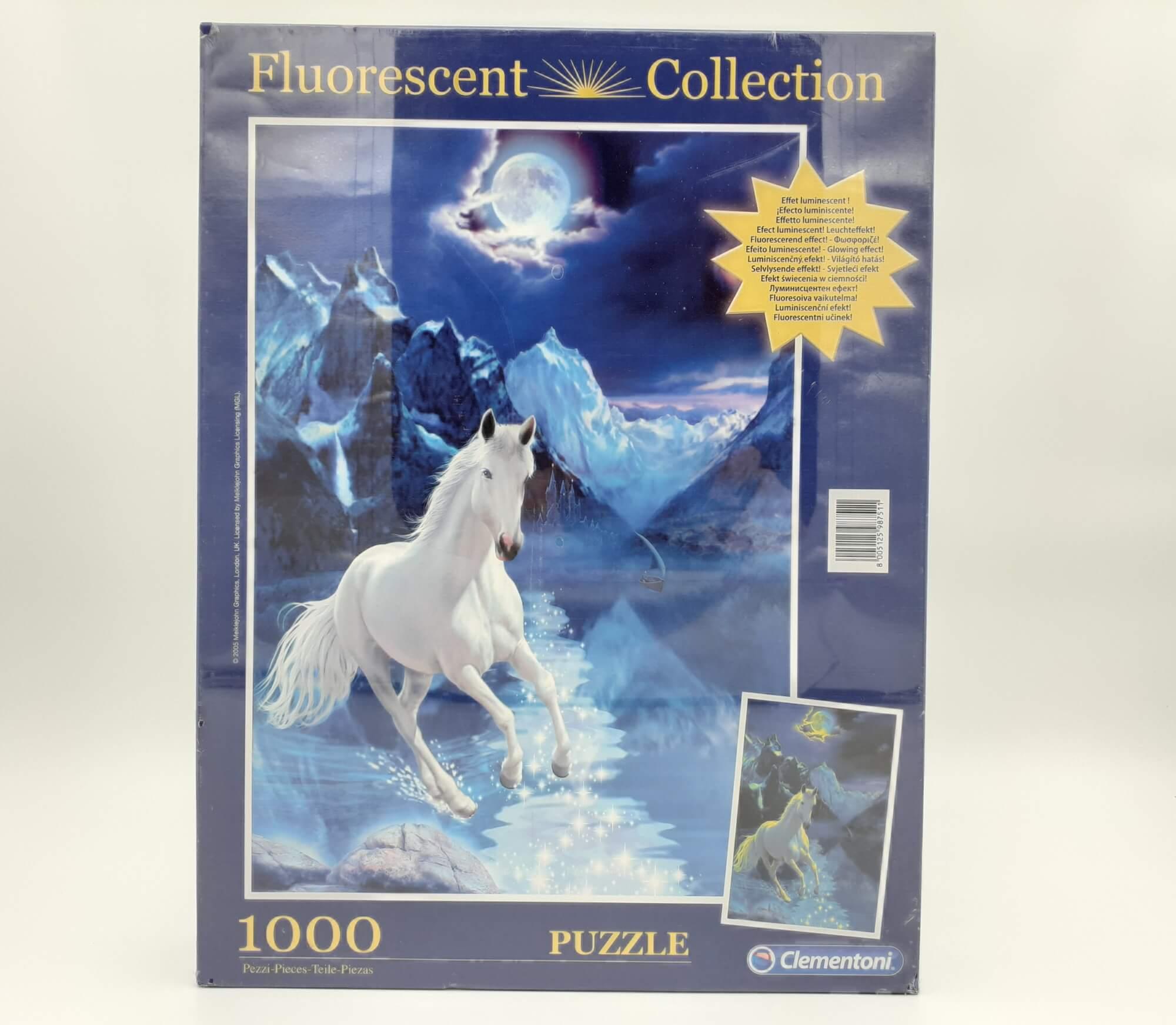 Clementoni puzzle beli konj 1000 kom.