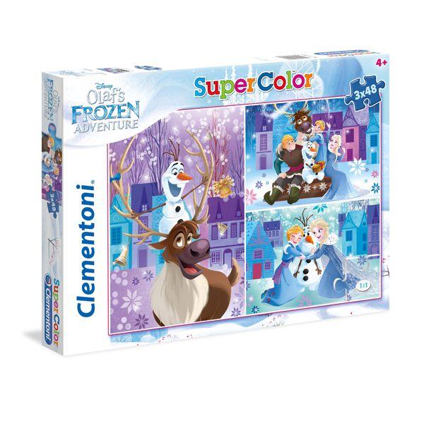 Clementoni puzzle Frozen 3x48