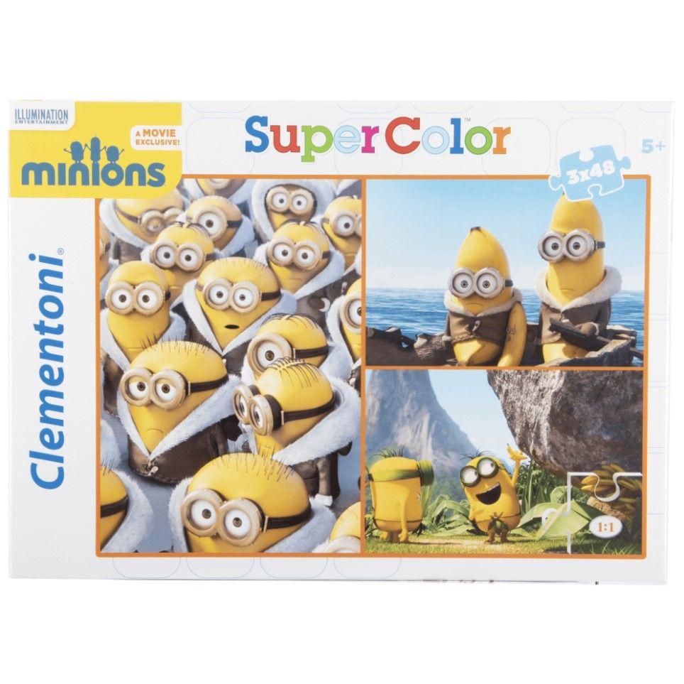 Clementoni puzzle Minions 3x48