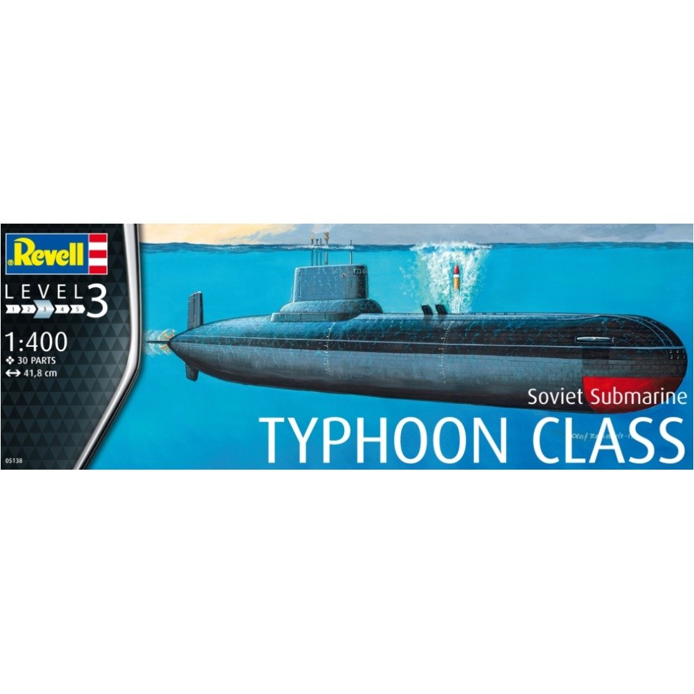 Revell maketa podmornica Typhoon Class 1:400