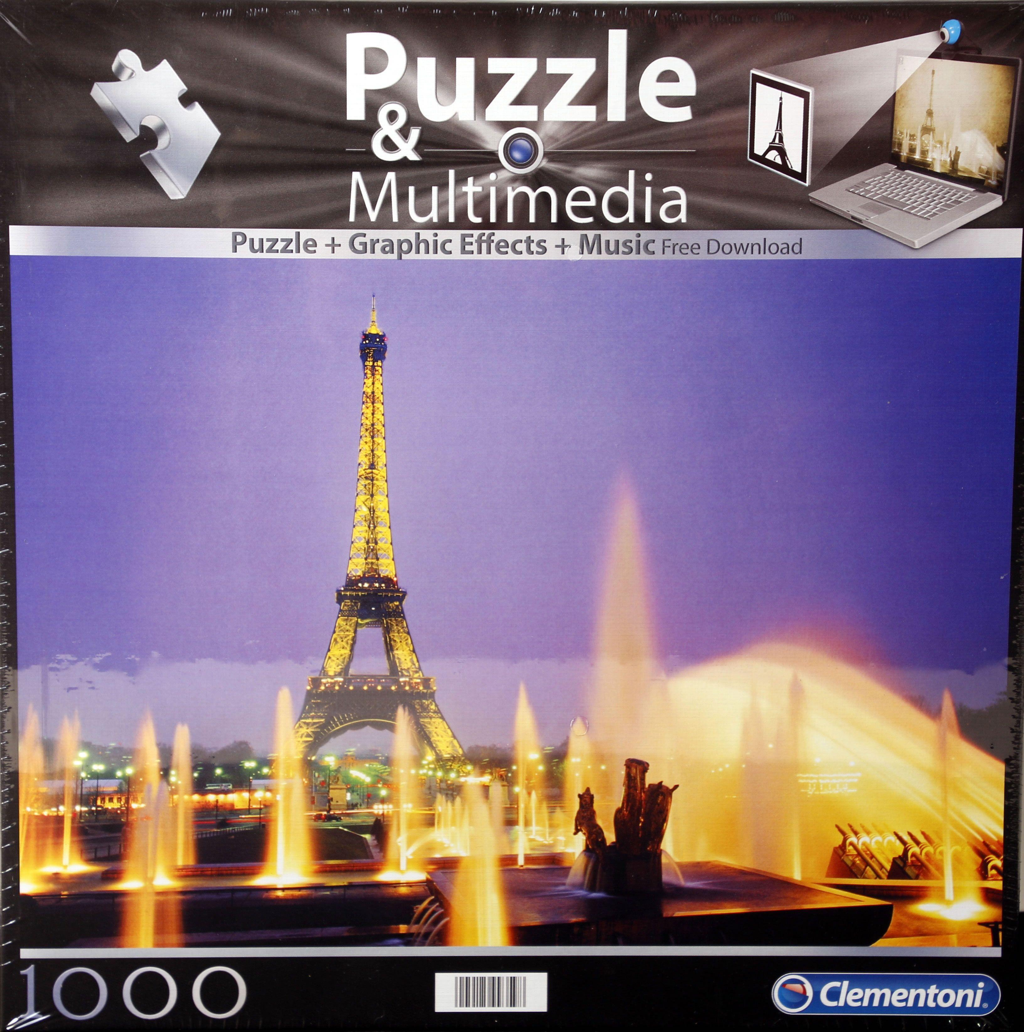Clementoni Multimedia puzzle Pariz 1000 kom.