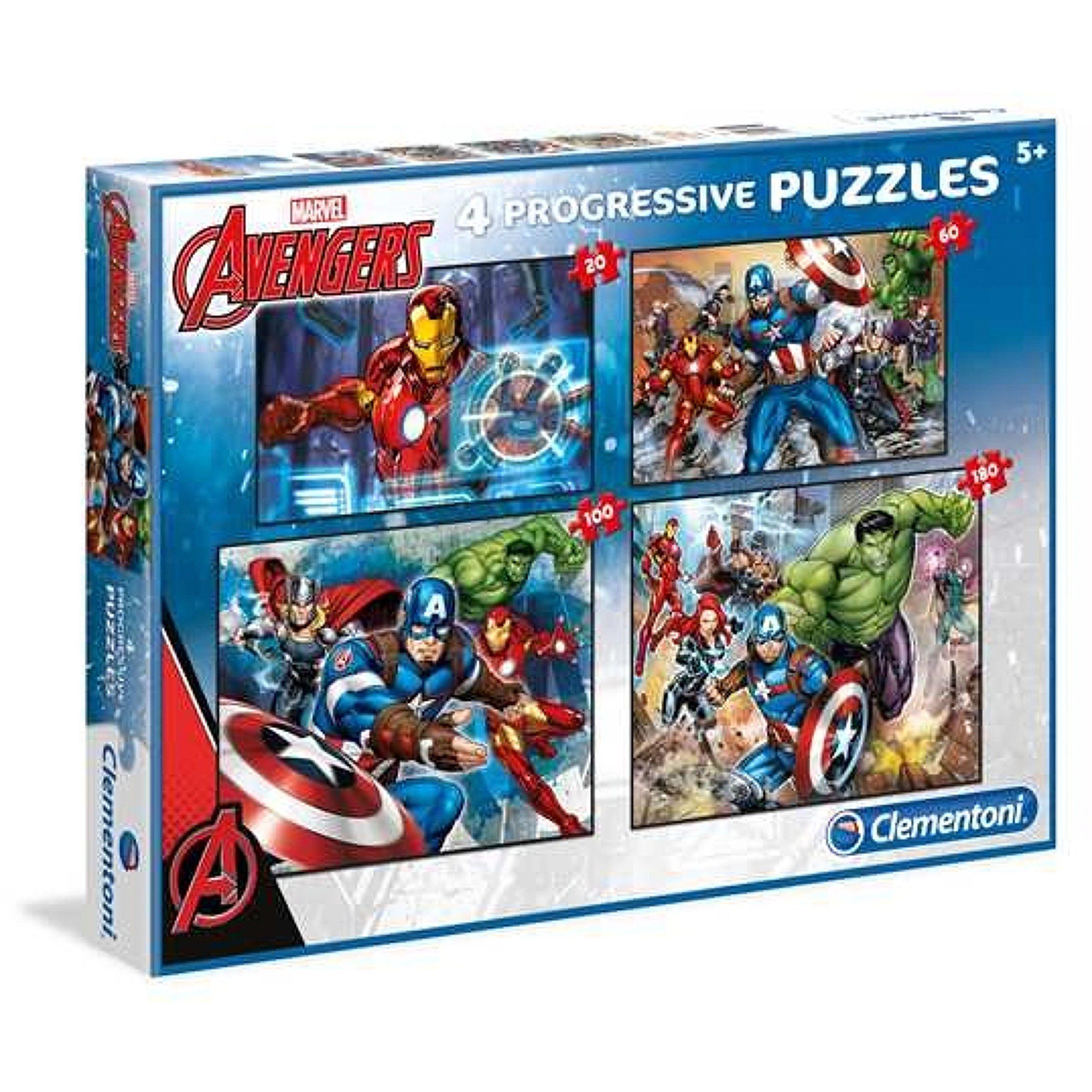 Clementoni Marvel Avengers puzzle 4-u-1
