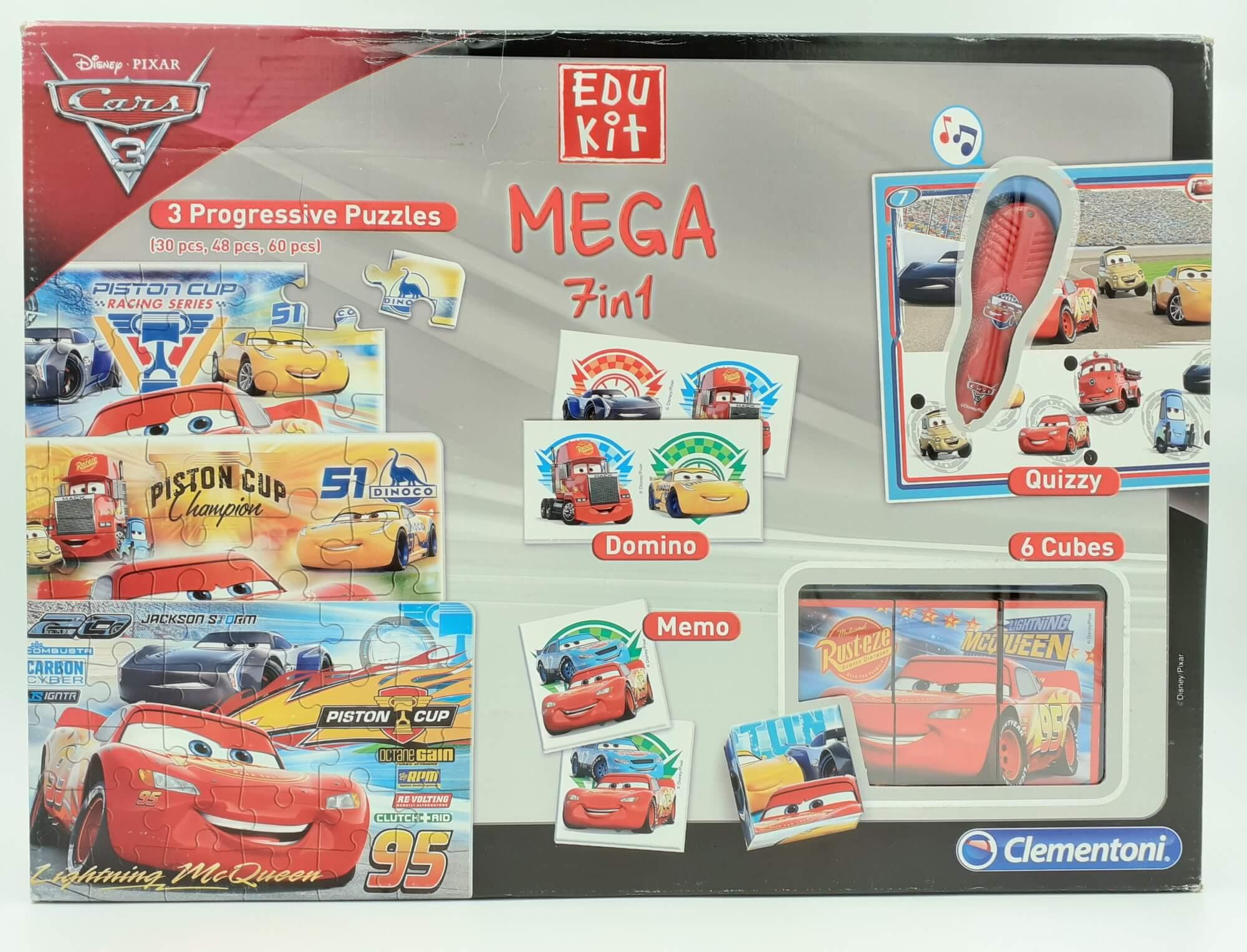 Clementoni Edu Kit Mega 7 u 1 set Cars - oštećeno pakovanje