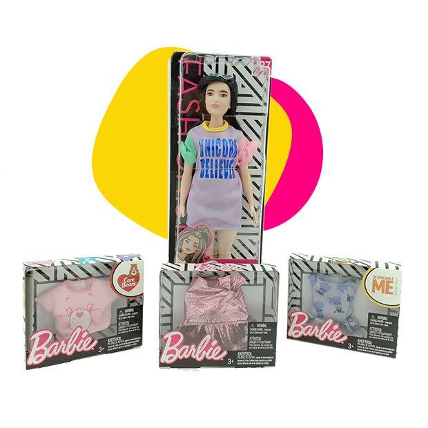 Barbie lutka sa naočarima za sunce i tri odevna predmeta SET