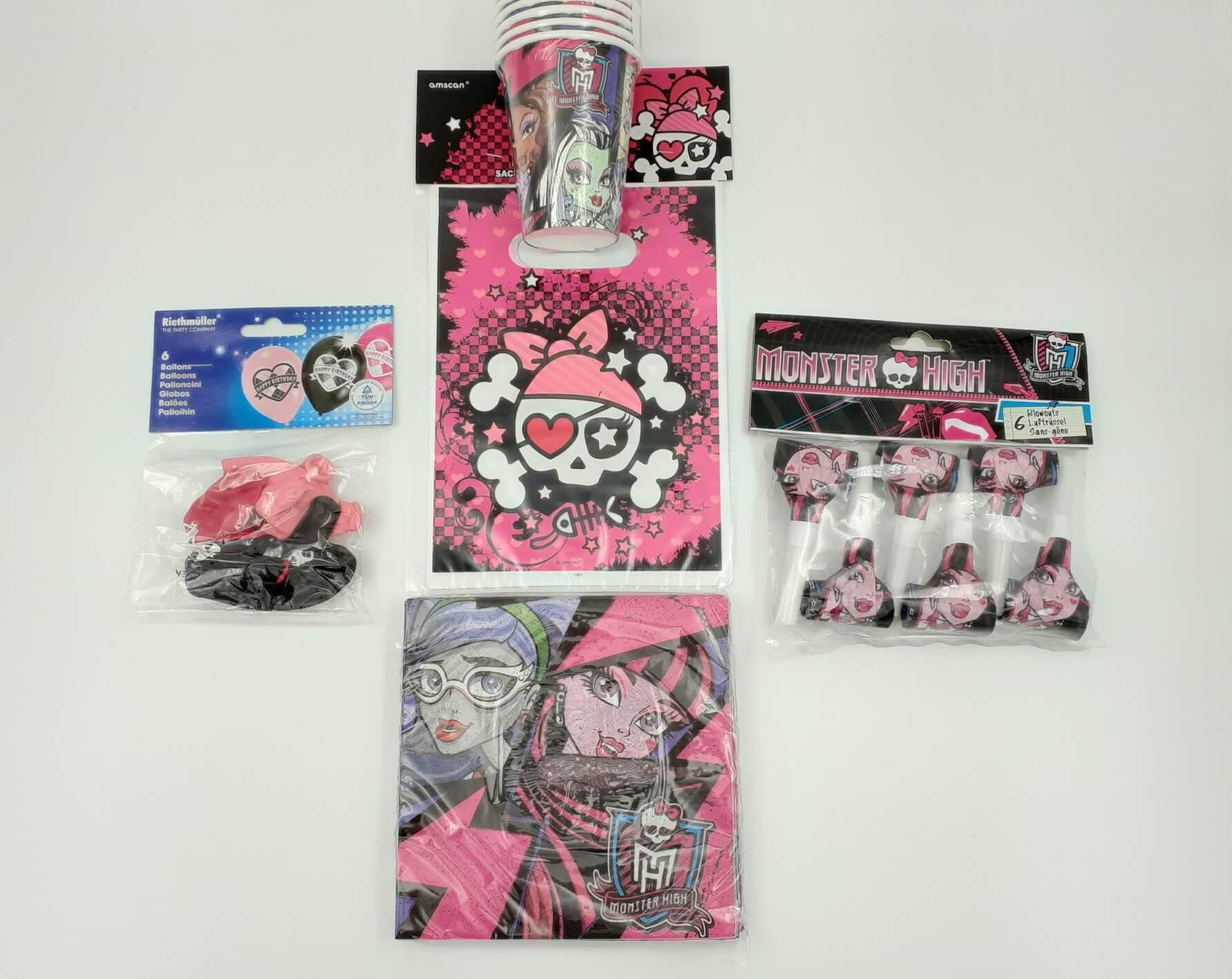 Monster High party SET 5 u 1