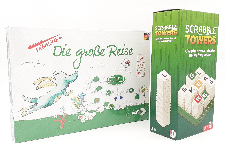 Društvene igre Velika Putovanja i Scrabble Towers SET 2 u 1