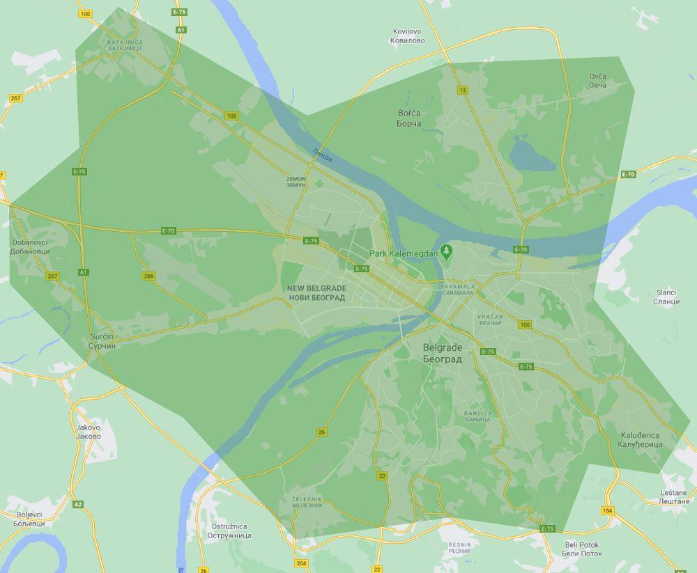 Kukuriku Express Dostava - Mapa Express dostave | Kukuriku