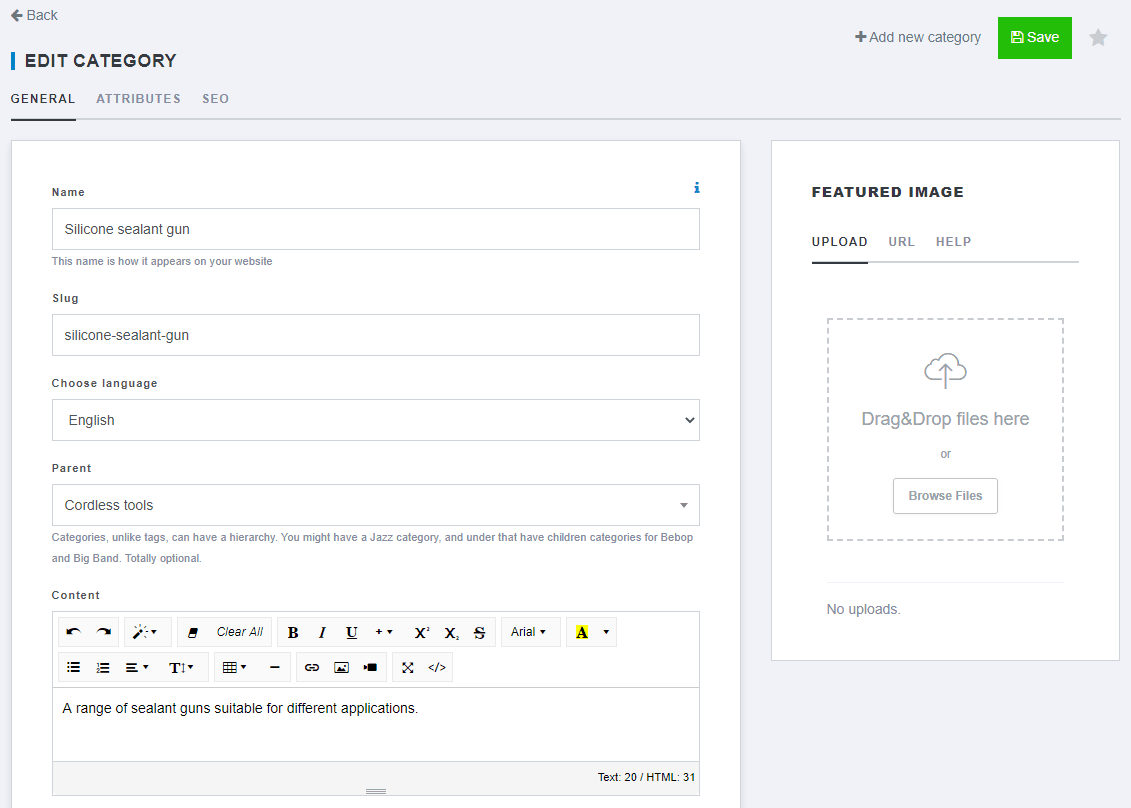 Adding and editing categories-6