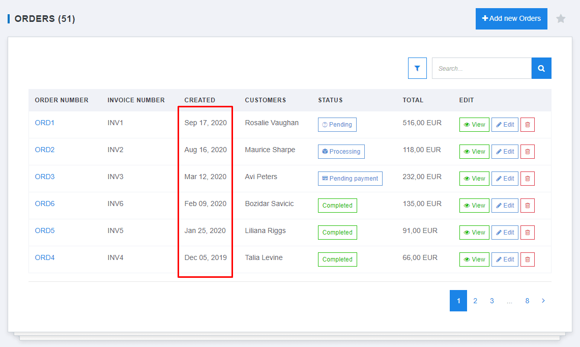 View not shipped orders-1